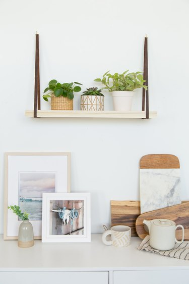 DIY Hanging Plant Shelf