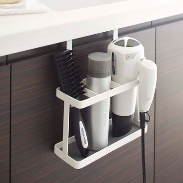 Yamazaki over-the-door hair styling tools organizer