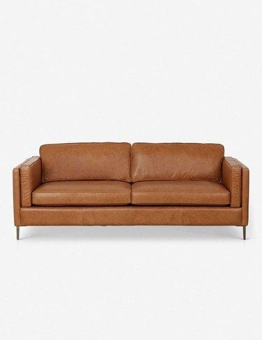Best cozy leather sofa