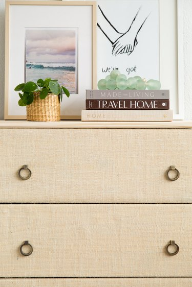 DIY Ikea Hack Tarva Dresser covered in fabric
