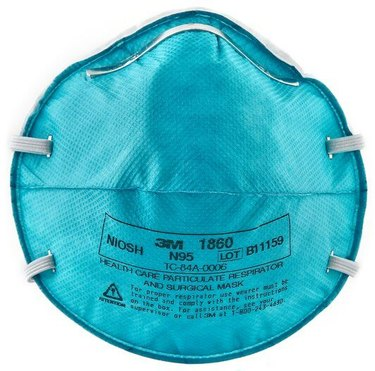 a blue 3M n95 healthcare face mask