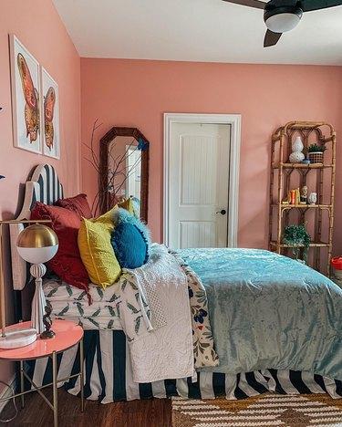 Sarisa Munoz The Indigo Leopard Home bedroom with pink walls