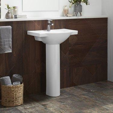 Veer Ceramic Bathroom Sink with Overflow from AllModern