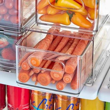 stackable refrigerator storage drawer