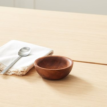 pinch bowl on a wood table