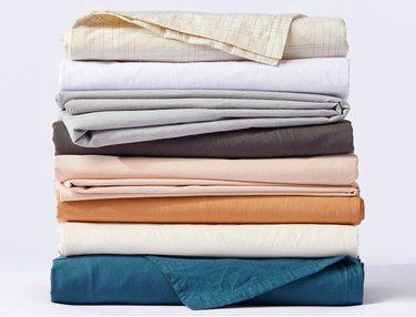 Colorful stack of sheets
