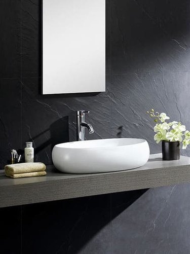 Ceramic Bathroom Sink Fine Fixtures Vitreous China Bulging Oval White Vessel Sink from Overstock