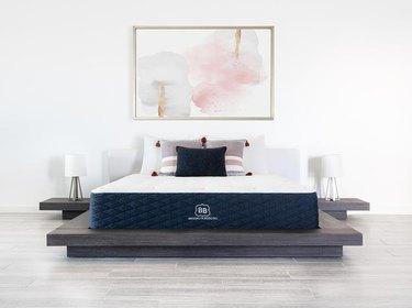 mattress on platform bed frame
