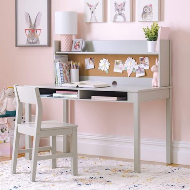 Martha Stewart Living and Learning Kids' Desk with Hutch and Chair Set