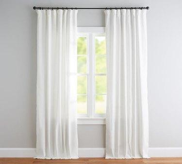 white linen cotton blackout curtains