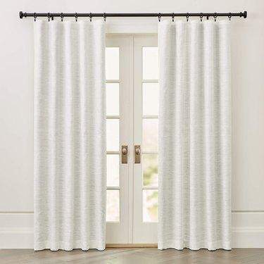 silk blackout curtains