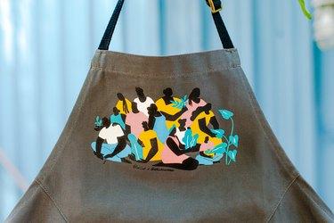 BlueCut + Alex Bowman Plating Change apron illustration close-up