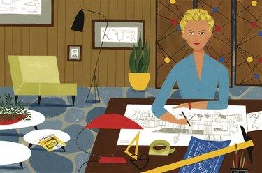 illustration of Greta Magnusson Grossman