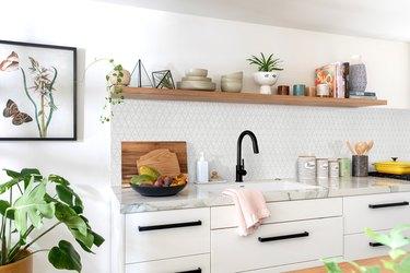 black-and-white kitchen makeover