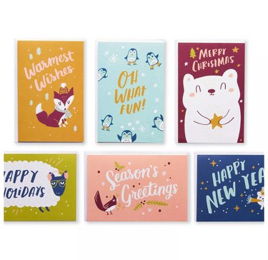 variety of holiday cards