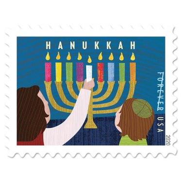 hanukkah themed stamp