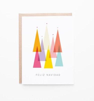 feliz navidad greeting card