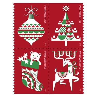 christmas themed stamps