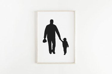 Father and son silhouette