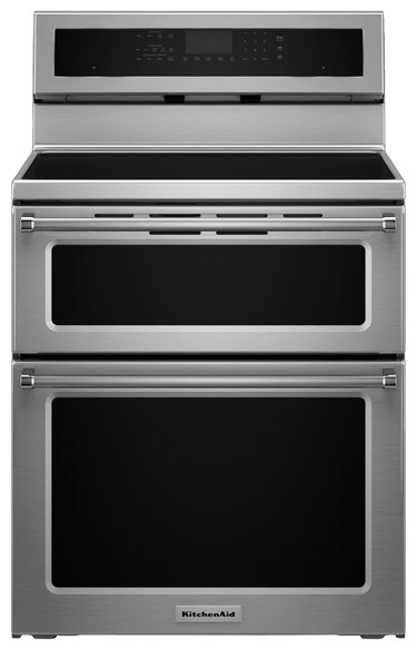 Stainless steel induction stove with double oven