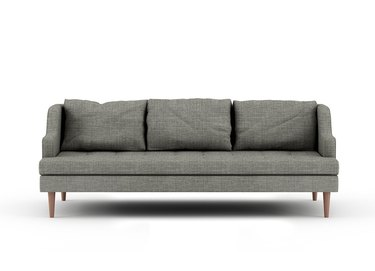 gray eco-friendly couch with curved arms from Medley Home