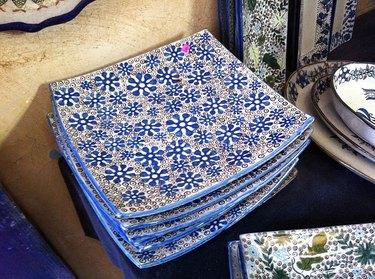 ceramic blue floral pieces