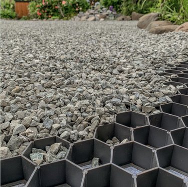 CORE permeable paving systems on eco-friendly patio