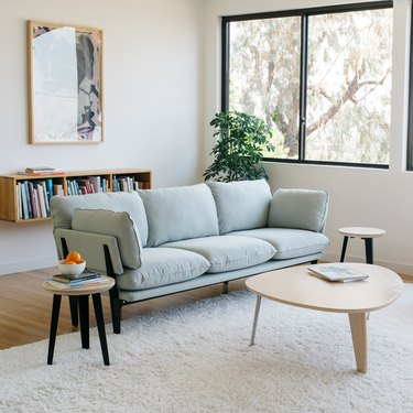 eco-friendly couch from Floyd Home in living room