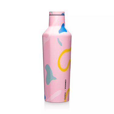 multi-colored water bottle