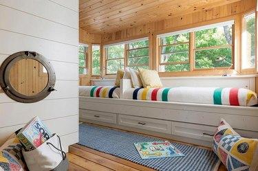 Stuffed Animal Storage with Under the bed kid toy storage designed by RLH Studio