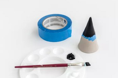 Air-dry clay and paint jewelry cone DIY