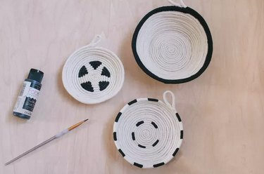 Cotton rope and paint bowls