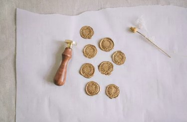 Wax seals for place cards