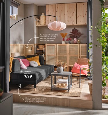 Ikea catalog showing ivar doors as wall panels