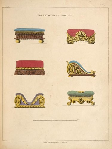 illustration of footstools
