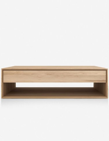 clean lines, modern coffee table with storage