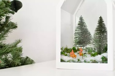 Holiday terrarium in a lantern