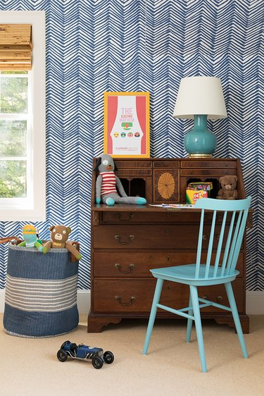 Stuffed Animal Storage in Kid room design with stuffed animal storage by Harding and Company Design