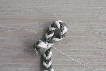 Tying braided garland into a loop