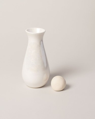 sustainable home decor with white carafe with a round stopper