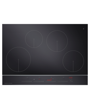 four burner ceramic stovetop by Fisher & Paykel