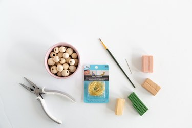 Supplies for DIY clay bead wine charms