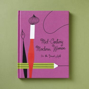 """pink cover with title """"Mid-Century Modern Women in the Visual Arts"""""""