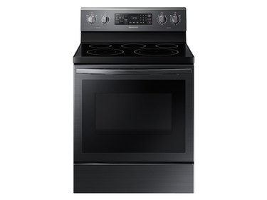 Samsung 5.9 cu. ft. Freestanding Electric Range with Air Fry and Convection in Black Stainless Steel, $989 eco-friendly stove oven