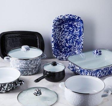 Golden Rabbit ceramic coated cast iron cookware