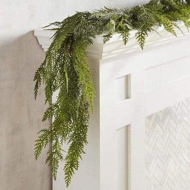 House Floral 6' Faux Realistic Cedar Garland
