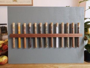 Spice organizer test tubes