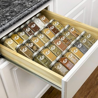 spice organizer drawer tray