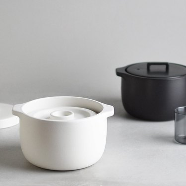 black and white 100 percent ceramic cookware rice cookers