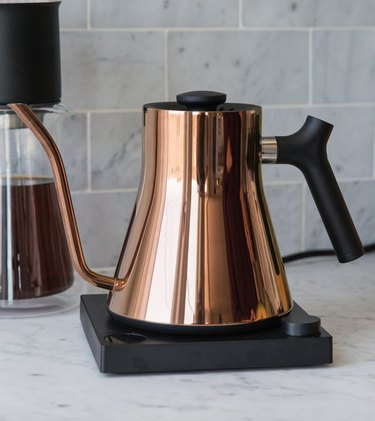 Copper electric kettle. small stove size ideas